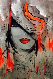 La Diva..gue! acrylique mixte 24x36 300$