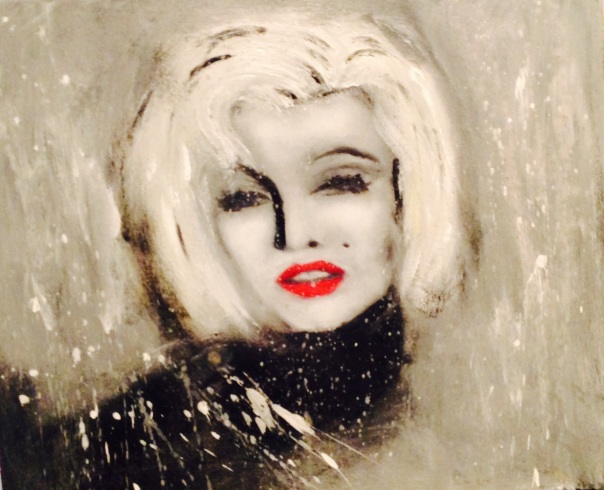 Marilyn Acrylique 26x26 200$